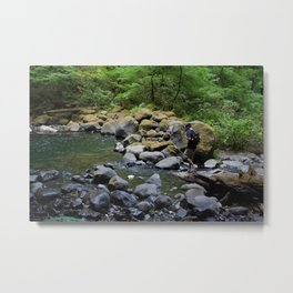 Exploring Nature Metal Print