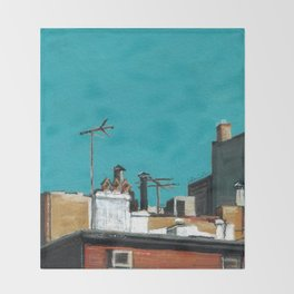 New York Rooftops Throw Blanket