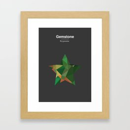 Gemstone - Kryptonite Framed Art Print