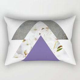 Ultra Violet Blossoms Arrows Rectangular Pillow