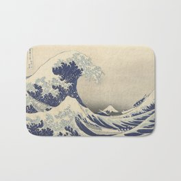 The Great Wave off Kanagawa by Hokusai Bath Mat