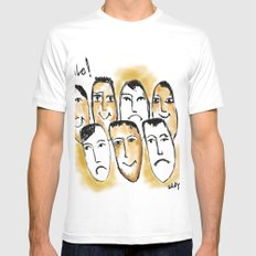 Smile White MEDIUM Mens Fitted Tee