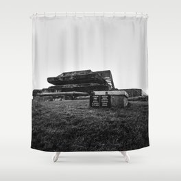 Historic German bunker  of World War II Shower Curtain