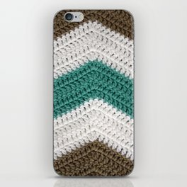Diagonal Crochet Throw iPhone Skin
