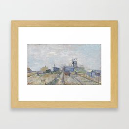 Montmartre - Windmills and Allotments by Vincent van Gogh Framed Art Print