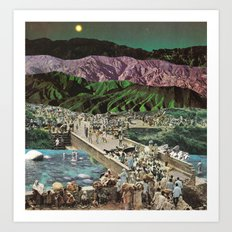 moonscape (no rest for the weary) Art Print