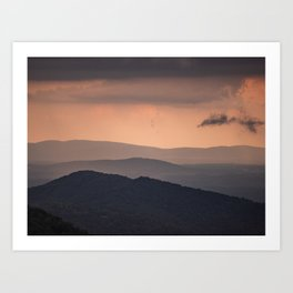 Blue Ridge Parkway Sunset - Shenandoah National Park Art Print