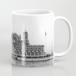 Ellis Island New York 1918 Vintage Coffee Mug