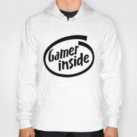 inside gaming Hoodies featuring Gamer iNSIDE by Blondie & Black Boy