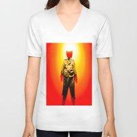 military V-neck T-shirts featuring MILITARY DRESS by Alejandra Triana Muñoz (Alejandra Sweet