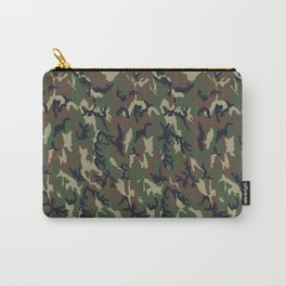 Woodland Forest Camouflage Pattern Carry-All Pouch