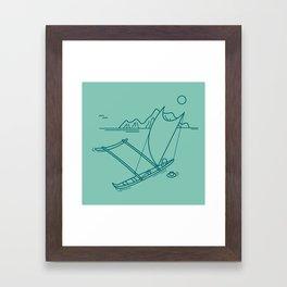 Outrigger Canoe Framed Art Print