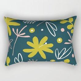 bold retro floral pattern Rectangular Pillow