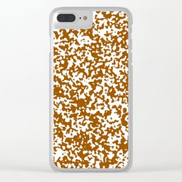 Small Spots - White and Brown Clear iPhone Case