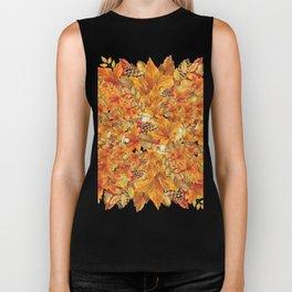 Autumn leaves - Acorn, clubs - Pine cones Biker Tank
