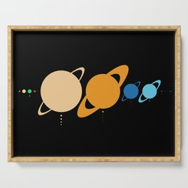 Planets And Moons To Scale Serving Tray