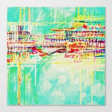futuristic world in turquoise Canvas Print