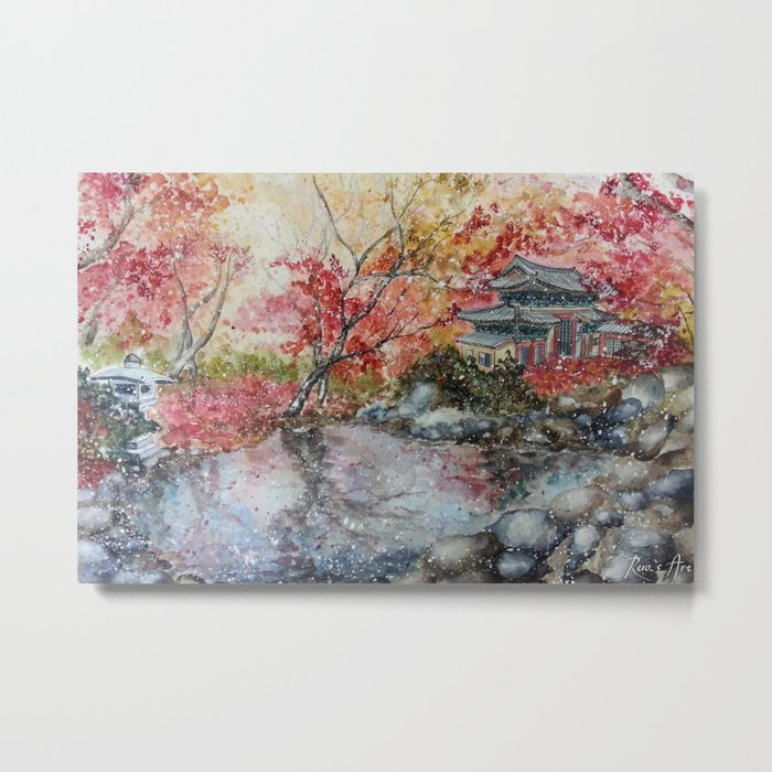Fall (Watercolor painting) Metal Print
