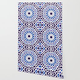 -A18- Original Traditional Moroccan Tile Design. Wallpaper