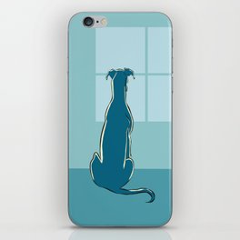 Waiting Greyhound iPhone Skin