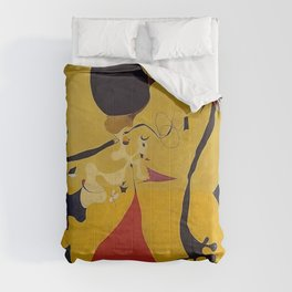 Art Dutch Interior III Joan Miro Comforters