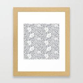 Japanese garden in grey Framed Art Print
