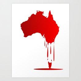 Australia Melting Down Art Print