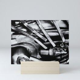 Machine Part BNW Abstract III Poster Print Mini Art Print