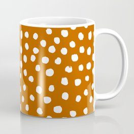 Texan texas longhorns orange and white university college football dots Coffee Mug