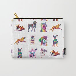 Rainbow Dogs Everywhere Carry-All Pouch