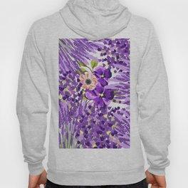 Lilac violet lavender lime green floral illustration Hoody