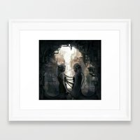 twins Framed Art Prints featuring Twins by aStripedUnicorn