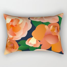 Orange Roses Rectangular Pillow