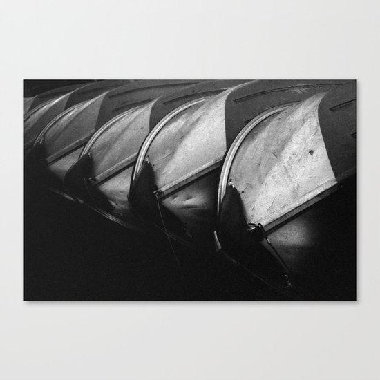 Row Boats 3 Canvas Print
