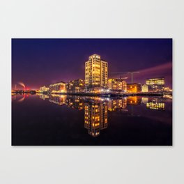 Reflections Dublin Docklands Canvas Print