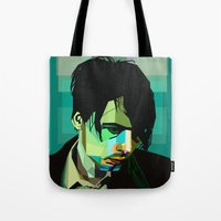 wes anderson Tote Bags featuring Brett Anderson by zomplag