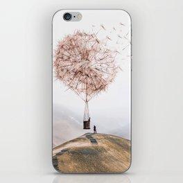 Flying Dandelion iPhone Skin