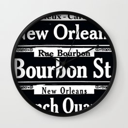 NEW ORLEANS FRENCH QUARTERS Wall Clock
