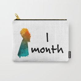 1 month Princess Inspired Silhouette Carry-All Pouch