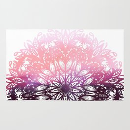 Watercolor Floral Mandala Rug