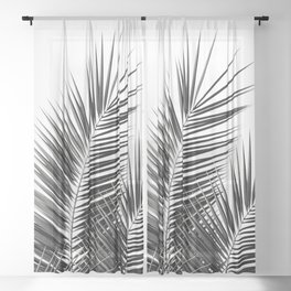 Black Palm Leaves Dream - Cali Summer Vibes #1 #tropical #decor #art #society6 Sheer Curtain