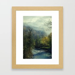 blue river Framed Art Print
