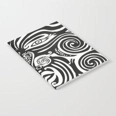 Maori Moko | Tribal Tattoo | New Zealand | Black and White Notebook