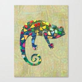 Animal Mosaic - The Chameleon Canvas Print