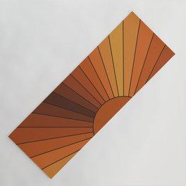 Retro Sunshine Yoga Mat