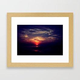 Swirly sunset Framed Art Print