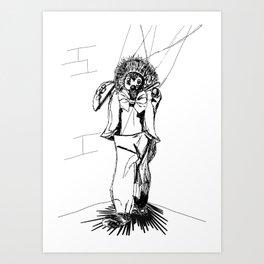 Puppet Man Art Print