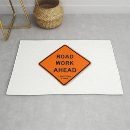 Road Work Ahead Meme Rug