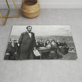 Abraham Lincoln Gettysburg Address Rug