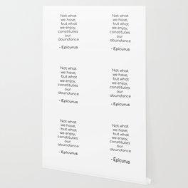 Epicurus on Abundance - Inspirartion Quote Wallpaper